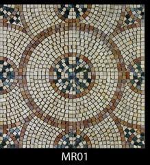 Мраморная мозаика.Панно  шлифованное