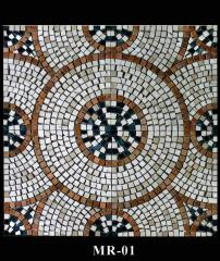 Marble mosaic. A panel the polished MR-01.