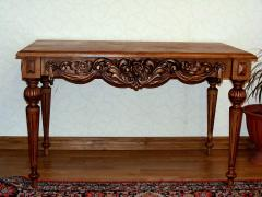 Carved little table