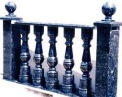 Granite handrail. A granite handrail in big