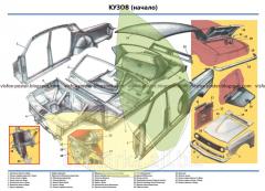 Car device stand Volga Body, beginning
