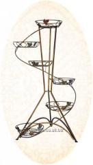 Кованая подставка под цветы Спираль №6