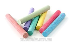 Pieces of chalk for drawing multi-colored a set