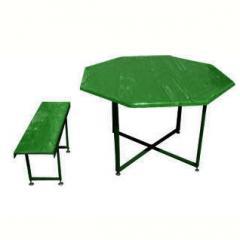 Стол и лавка из стекловолокна, стол дачный, стол