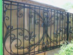 The fences forged on the individual projec