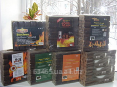 Pini Kay briquettes from dry wood waste