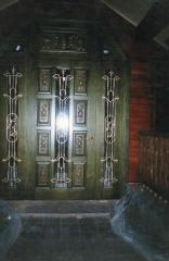 Doors are decorative shod