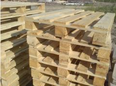 Pallet cargo wooden restored