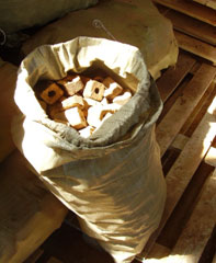 Briquettes fuel (Pini Kay) from strong breeds of