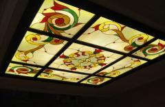 Декоративные потолки витражные
