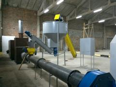 The bunker for accumulation of raw materials with