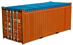 20-foot open top containers of open top