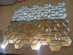 Зеркальная мозаика на сетке