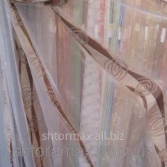 Тюль, гардина, органза вертикальная полоса арт 431