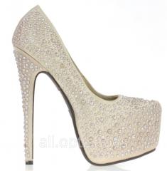 Бежево-розовые свадебные туфли Jumos 37 10-16