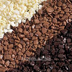 Fragments chocolate white g / to 18 kg