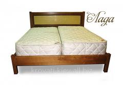 """Двуспальная деревянная кровать """"Лада"""""""
