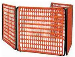 Светоотражающая оранжевая сетка для ограждения при