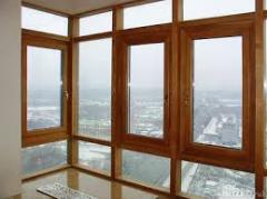 Windows are wooden modern, to get eurowindows from