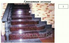 Лестница из гранита по индивидуальному проекту