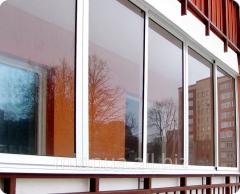 Frames balcony aluminum Dnipropetrovsk