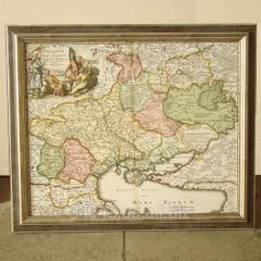 Рамка для карты на холсте Багет №68