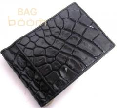Clip for money from leather of a crocodile (N59B)