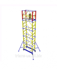 The tower is mobile, height 7.2m, 1.6х0.8