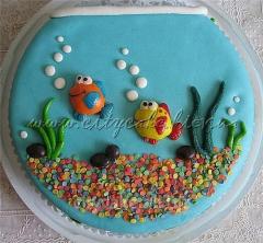 Cake children's Aquarium, water world No.