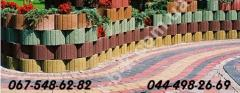 Paving slabs and other elements of improvement of