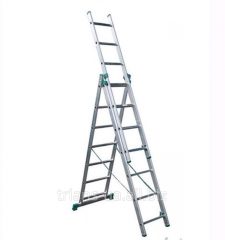 Ladder 3-section 3x7 AXIAL, folding