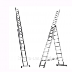 Ladder 3x13 AXIAL, folding 3-section