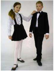 School clothes tailoring under the order, the