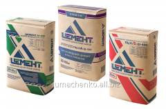 Cement Odessa in bags 25, 50 kg and a pile