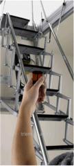 Ladder for an attic of ACI SVEZIA Aluminio