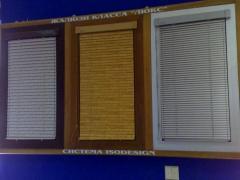 Горизонтальные жалюзи(16 и 25мм) и жалюзи К-system
