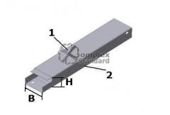 Box angular for horizontal turn at an angle 90 °