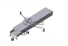 Box angular metal KUV-0,15/0,4-45 °