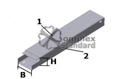 Angular box metal KUG-0,1/0,2-45 °