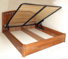 Wooden bed with the lifting mechanism cheap