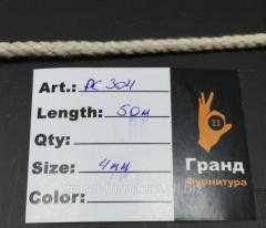 Шнур крученный,  белый. арт. PC304