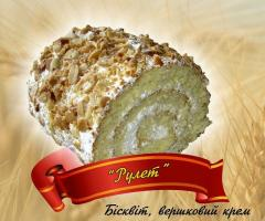 Biscuit cake Roll from the producer, Ukraine