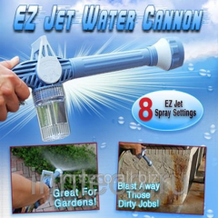 Nozzle on a hose of Ez Jet Water Cannon