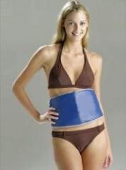 A belt for weight loss of Sauna Belt, blue