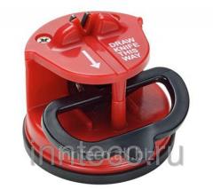 Mini-sharpener with vacuum fastening