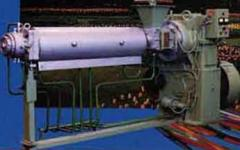 The worm MChH-125 car (extruder) for processing of