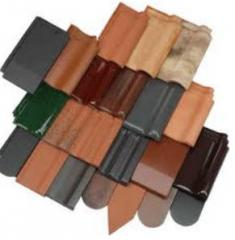 Accessories to a metal tile. Tile natural ceramic