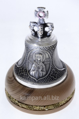 Hand bell St. Lyudmila, bronze with silvering and