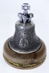 Hand bell St Mary, bronze with silvering and