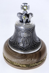 Hand bell St. Olga, bronze with silvering and